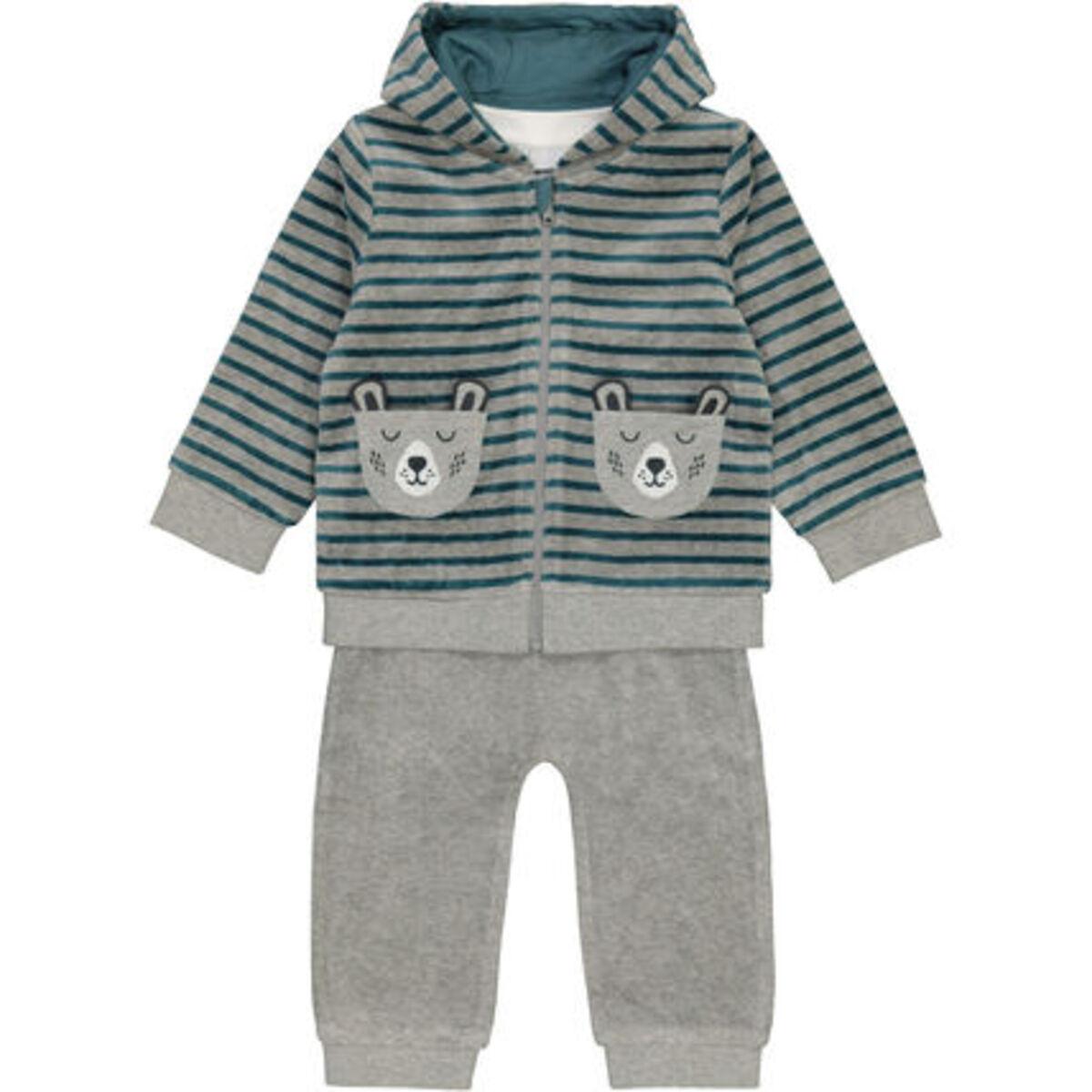 Bild 1 von MANGUUN Anzug-Set, 3-teilig, Nicki-Stoff, für Baby Jungen