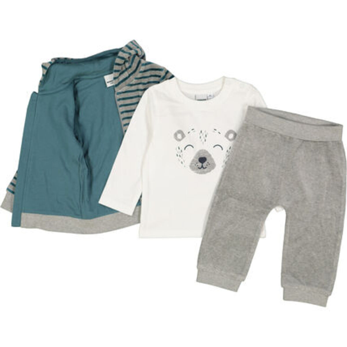 Bild 3 von MANGUUN Anzug-Set, 3-teilig, Nicki-Stoff, für Baby Jungen