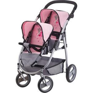 Bayer Design Zwillings-Puppenwagen