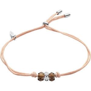 """Fossil Damen Armband """"JFS00469040"""", Textil/Silber"""