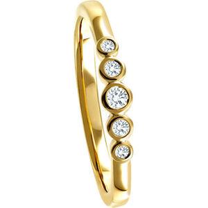 Vandenberg Damen Ring, 375er Gelbgold mit 5 Diamanten