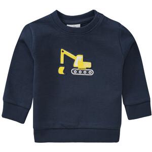 Baby Sweatshirt mit Bagger-Motiv