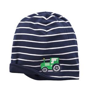Baby Mütze mit Trecker-Motiv