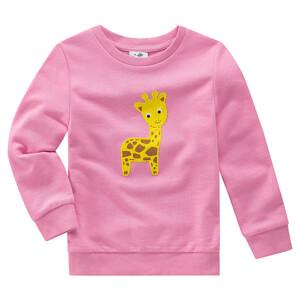 Mädchen Sweatshirt mit Giraffen-Motiv
