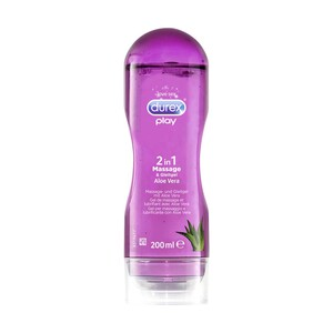 durex play 2 in 1 Massage & Gleitgel oder Gefühlsecht Kondome Extra Feucht/Extra Groß/Ultra/Slim Fit, versch. Sorten, jede 200-ml-Flasche/10er-Packung