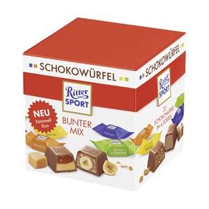 Ritter Sport Schokowürfel  + 2 Stück gratis, versch. Sorten, jede 192-g-Box