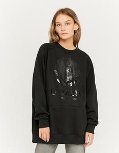 Oversize Sweatshirt mit Aufdruck
