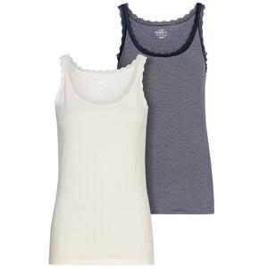 2 Damen Unterhemden mit Spitze