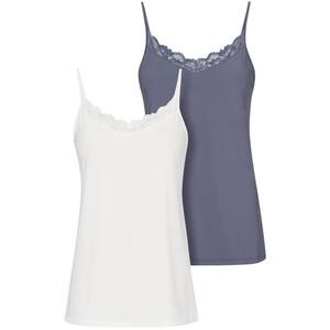 2 Damen Unterhemden aus Mikrofaser