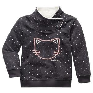 Baby Sweatshirt mit Katzen-Stickerei