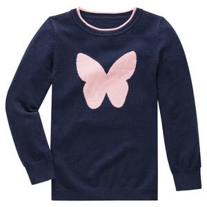 Mädchen Strickpullover mit Schmetterling
