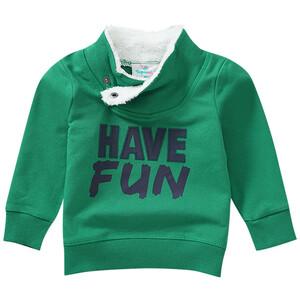 Baby Sweatshirt mit Plüsch am Kragen