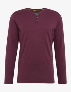 Tom Tailor - TT Shirt 1/2 Arm     Bordeaux, weinrot M 50
