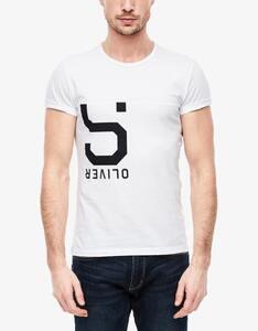 s.Oliver - T-Shirt mit sportivem Label- Druck