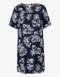s.Oliver - Popeline-Kleid mit floralem Muster