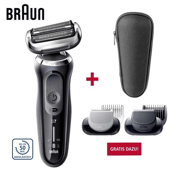 Rasierer Series 7 70-N1000S • 360°-Flexkopf für eine glatte Rasur auch an schwierigen Stellen • AutoSense-Technologie: passt die Motorleistung automatisch an die Bartdichte an • 100 % wasserd