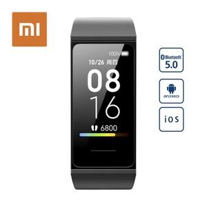 Mi Band 4C (Bild 1+2 für Werbung) · TFT Farb-Display · bis zu 14 Tage Akkulaufzeit · Datum/Uhrzeit-Anzeige, Pulsmesser, Distanz- und Schrittzähler, Kalorienzähler · Benachrichtigungen in Echtz
