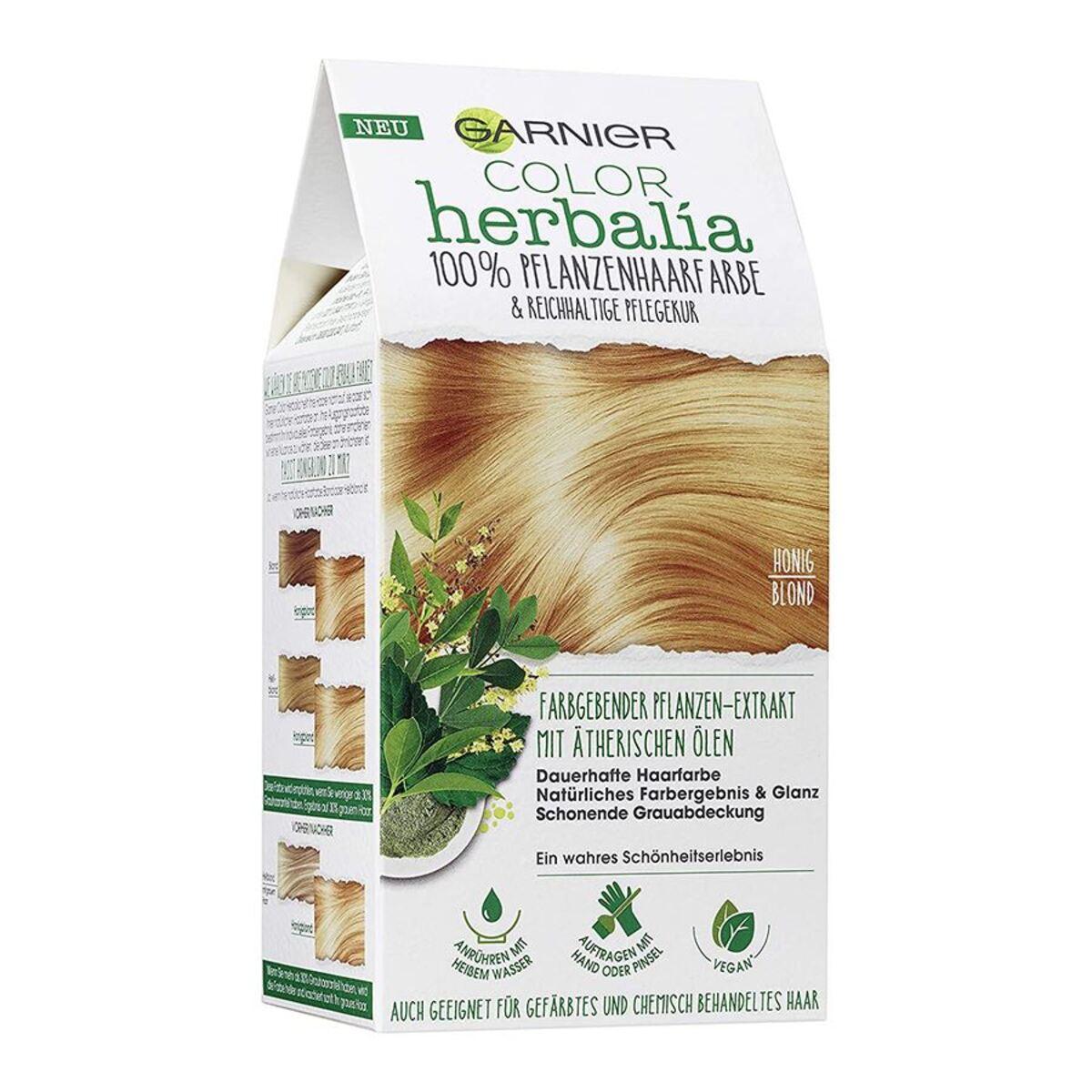 Bild 1 von Garnier Color Herbalia 100% Pflanzenhaarfarbe und Pflegekur Honigblond