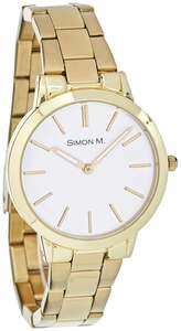 IDEENWELT Damen Armbanduhr Edelstahl gold