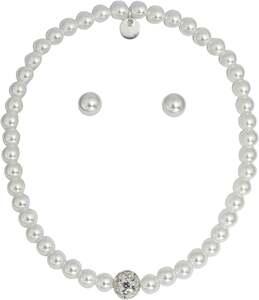 IDEENWELT Echtschmuckset Armband m. Perlen Ohrring