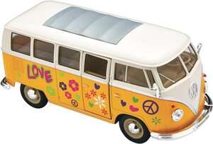 IDEENWELT Modellauto Volkswagen T1 Hippie 1:24