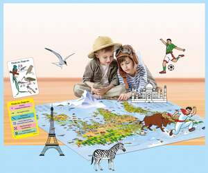 IDEENWELT Kinderweltkarte im Großformat