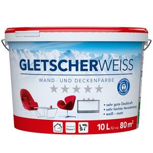 Gletscherweiss Wand- und Deckenfarbe, weiß, 10 Liter für ca. 80m²
