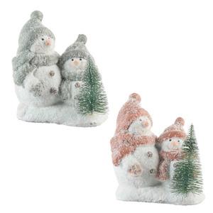 Schneemänner mit Tannenbaum Glitzeroptik in verschiedenen Farben