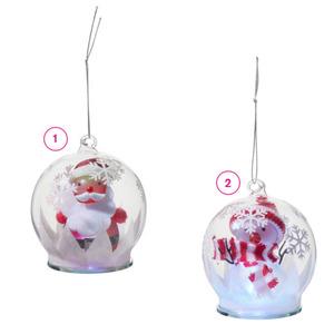ProVida LED-Weihnachtskugel mit Deko in verschiedenen Varianten