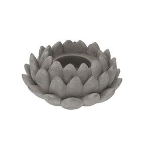 ProVida Teelichthalter Lotusblume 12,5 x 5,5 x 12,5 cm aus Zement