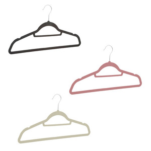 ProVida Kleiderbügel Set 20er beflockt in verschiedenen Farben