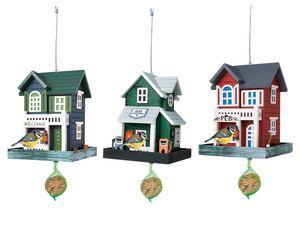 ZOOFARI® Vogelfutterhaus, mit Aufhängedraht, aus Holz