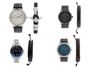 AURIOL® Armbanduhr Herren, mit Schmuckarmband
