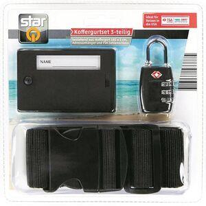 Star Q Koffergurtset, 3-teilig