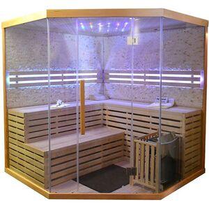 Home Deluxe 8621 Skyline XL BIG Sauna mit Kunststeinwand