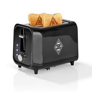 BMG Toaster mit Soundfunktion 800W schwarz/weiß