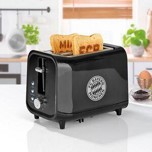 FCB Toaster mit Soundfunktion 800W schwarz/silber
