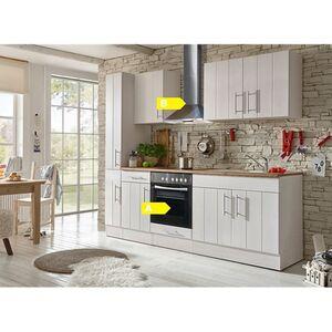 Respekta Premium Küchenzeile BERP240LHWC 240 cm Weiß-Lärche Nachbildung