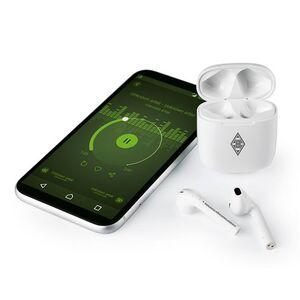 BMG Kopfhörer In-Ear Bluetooth 5V weiß/grau mit Logo