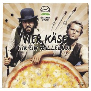 Gustavo Gusto Vier Käse für ein Halleluja Pizza 430g