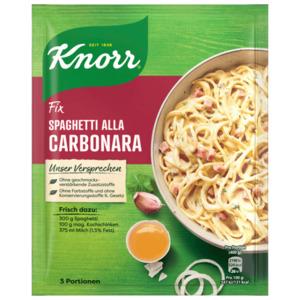 Knorr Fix Spaghetti alla Carbonara für 3 Portionen