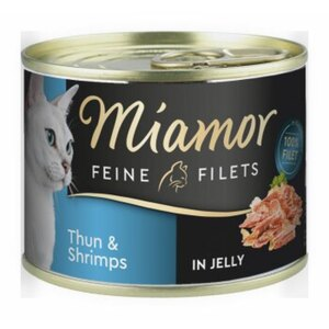 Miamor Feine Filets in Jelly 12x185g Thunfisch & Shrimps