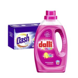 Dalli oder Dash Waschmittel Pulver, Flüssig oder Caps