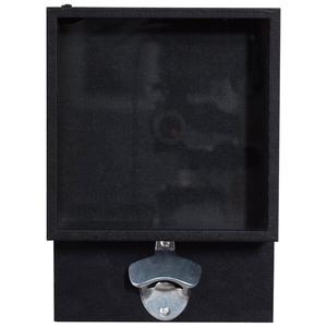 Flaschenöffner mit Glaskasten EGON (25,5x18, schwarz)