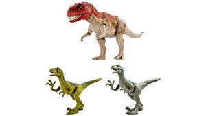 Mattel - Ceratosaurus Set mit Ceratosaurus & 2 Velociraptoren