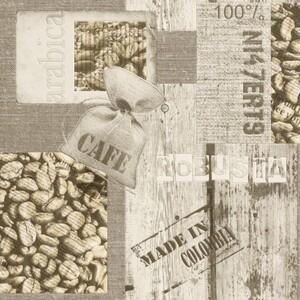 Rasch Vinyltapete Tiles & More ,  Café braun