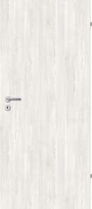 Borne Türblatt Dekor Pinie weiß ,  73,5 cm x 198,5 cm, DIN rechts, Wabe
