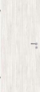 Borne Türblatt Dekor Pinie weiß ,  73,5 cm x 198,5 cm, DIN links, Wabe
