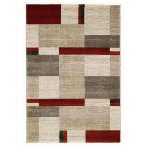 Novel Webteppich 80/200 cm braun, rot, beige , Palazzo Bloc , Textil , Abstraktes , 80x200 cm , in verschiedenen Größen erhältlich , 007946101296