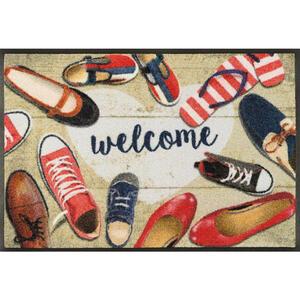 Esposa Fußmatte 50/75 cm objekte multicolor , 088134 Shoes Welcome , Textil , 50x75 cm , rutschfest, für Fußbodenheizung geeignet , 004336011089